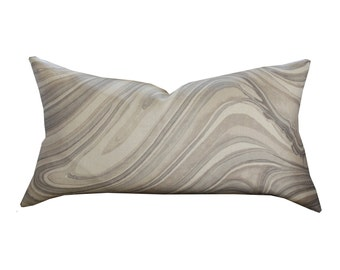Kelly Wearstler Barcelo Lumbar Pillow Cover in Taupe 22 x 12