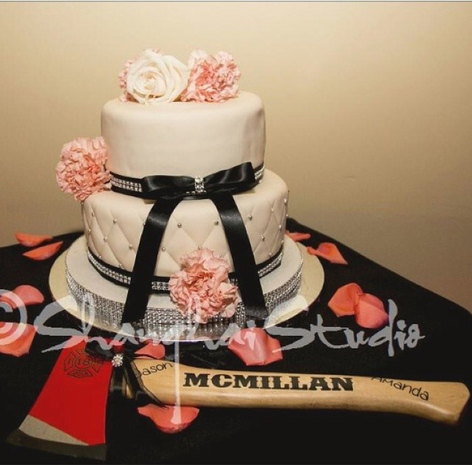 customized firefighter axe wedding cake cutter - Firefighter Wedding Rings