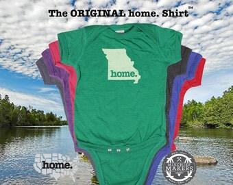 Missouri home Baby Bodysuit purple green pink green