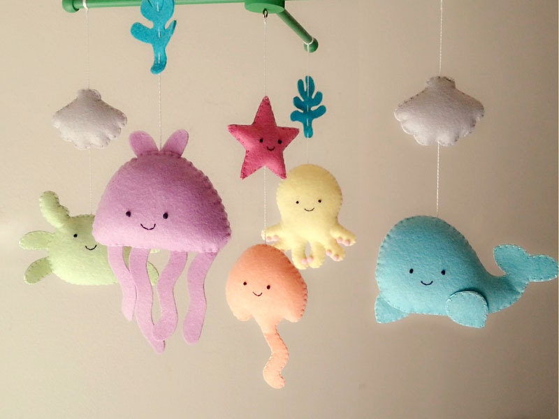baby crib mobile sea animal mobile ocean mobile under