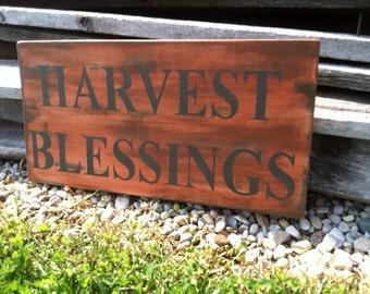 Fall Decor Harvest Blessings Sign Fall Decor Fall Decor Sign Harvest Decor Harvest Sign