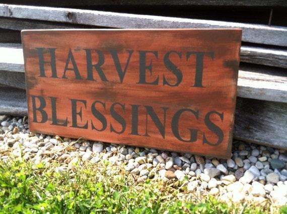 Fall Decor Harvest Blessings Sign Fall Decor Fall Decor Sign
