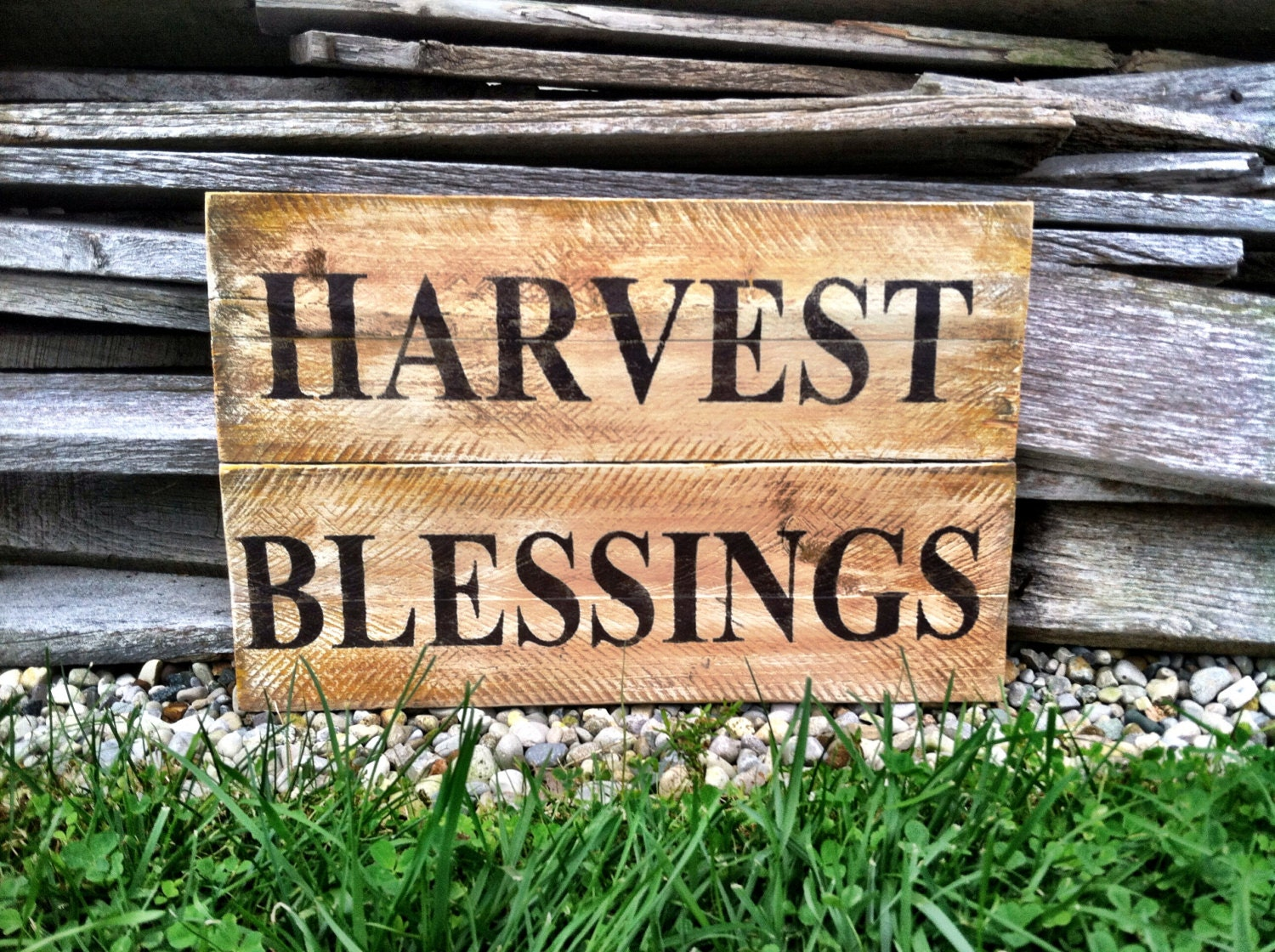 Fall Sign Fall Decor Harvest Blessings Sign by CharmingWillows