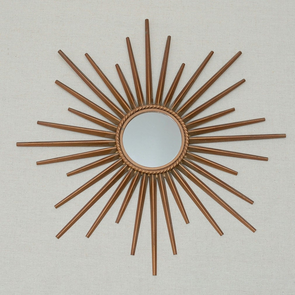 Vintage chaty vallauris france miroir solei sunburst starburst - Miroir chaty vallauris prix ...