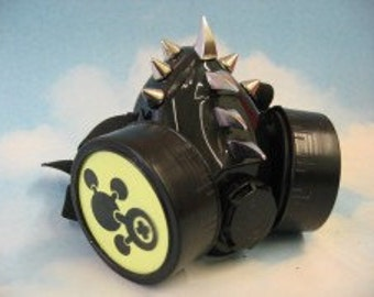 Yellow Atoms Spikes Respirator