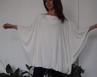 Over-sized Long Jersey Tunic  Long  Tunic Bolloon Tunic