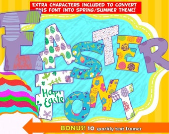 FONTS - Easter Font - Personal and Commercial use