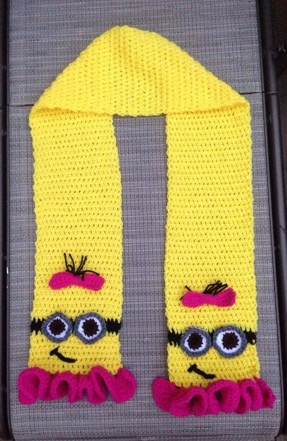 Crochet Pattern Minion Scarf Crochet Pattern By
