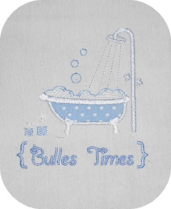 Instant download embroidery design bath from alicebroderie for Bathroom embroidery designs