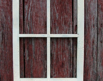 "Hand made window frame 24"" tall X17"" wide pine"