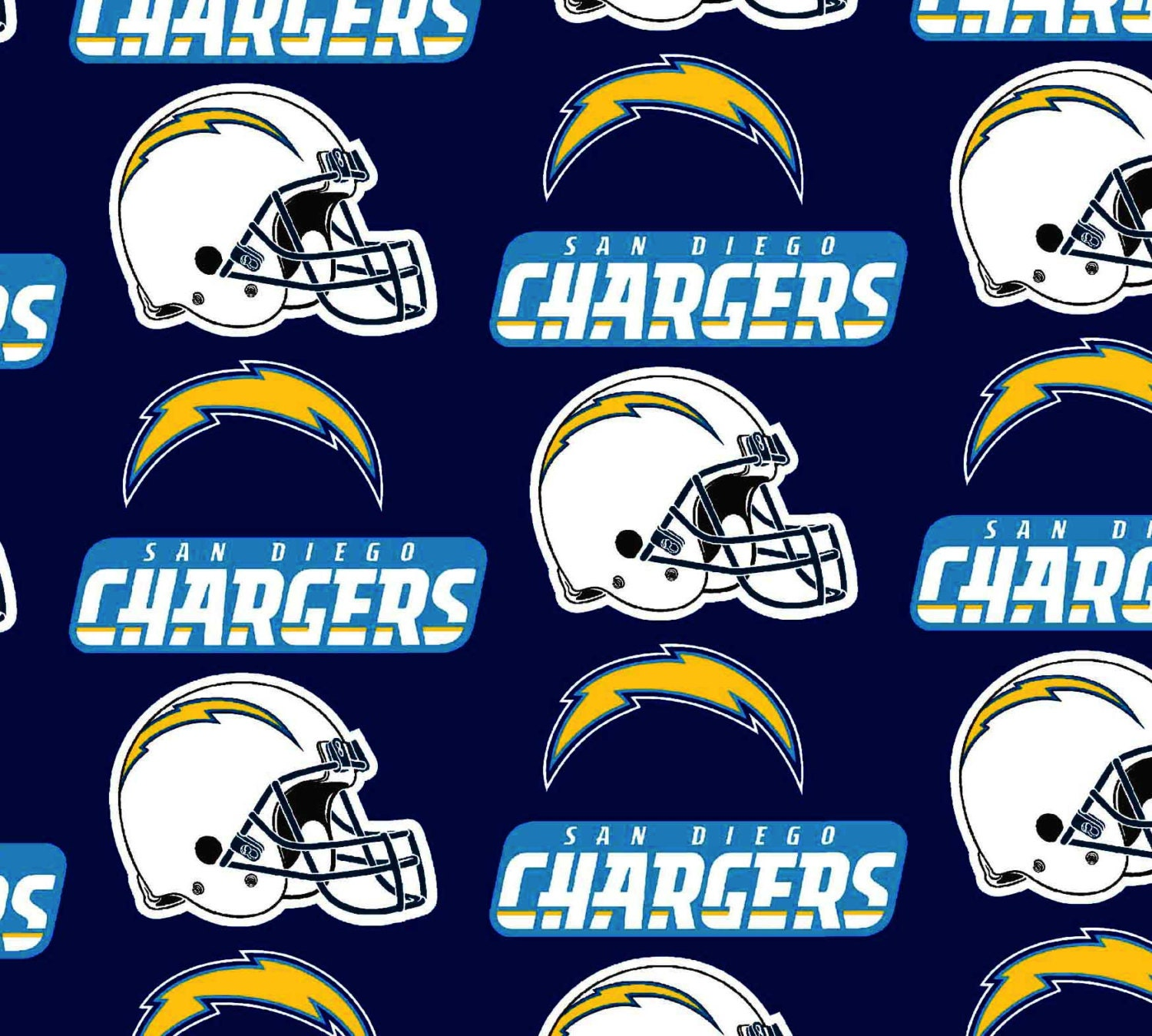 San Diego Chargers Nfl Cotton Fabric By The Yard Sports