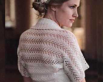 Knitting Lacy Shrug- PDF pattern
