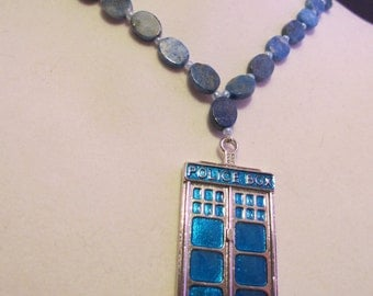 Doctor Who Tardis Lapis Necklace