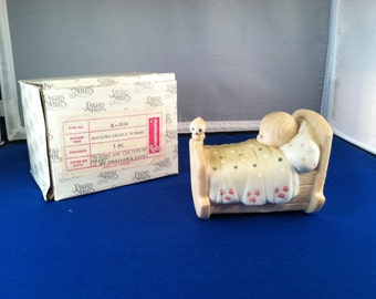 Blessed Are the Pure In Heart Precious Moments Figurine, Rocking cradle w/baby