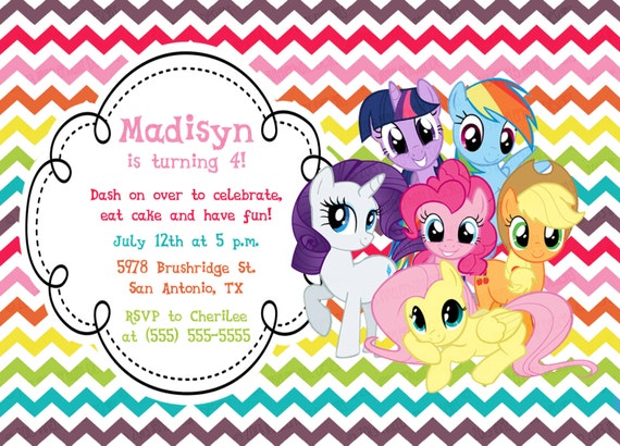 My Little Pony Custom Invitations as beautiful invitation example