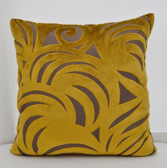 housse de coussin velours moutarde housse de coussin velours. Black Bedroom Furniture Sets. Home Design Ideas