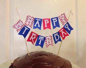 Happy Birthday, Cake banner, cake smash banner, first Birthday, Cake Bunting