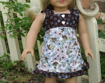 Sweetness Summer Dress, 18 inch doll dress, sized to fit dolls such as American Girl dolls