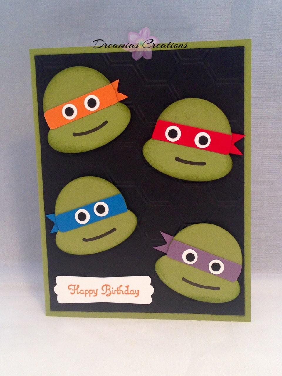 Днем, черепашки ниндзя открытки на день рождения