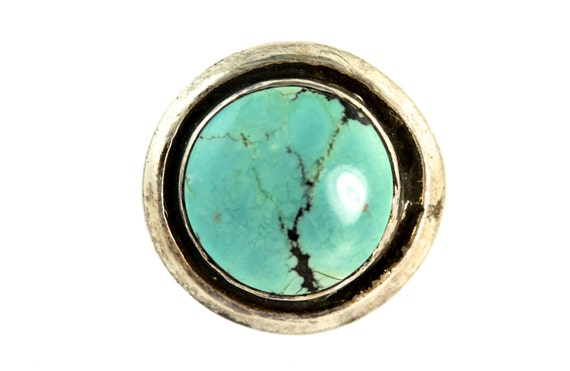 Vintage Southwestern Sterling Silver & Pale Blue Turquoise Ring
