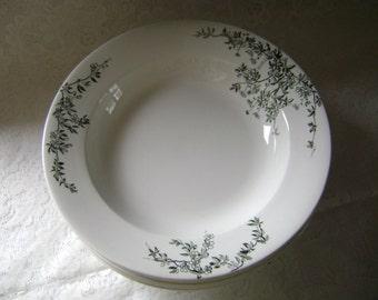 Rare George Jones & Sons White Ironestone Shallow Soup Bowls, in Aberdeen Pattern Circa 1800's, Staffordshire, England