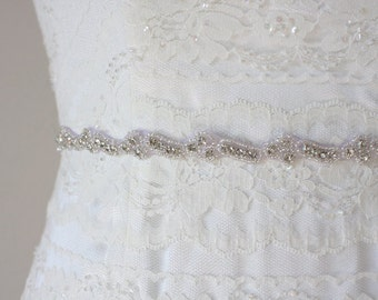 MIA - Lovely Crystal Rhinestone Bridal Sash, Wedding Beaded Belt, Bridal Rhinestones Belts, Bridesmaids, Bridal Party