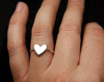 Sterling silver hart ring