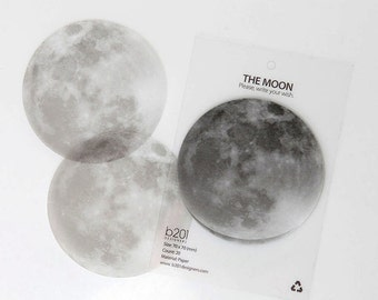 The Moon Tracing Paper Sticky Note Adhesive Paper Post-it / Memopad