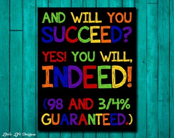 Classroom Decor. Classroom Sign. Teacher Sign. Teacher Gift. Teacher Rules. Motivational Wall Decor. Classroom Sign You Will Succeed. School
