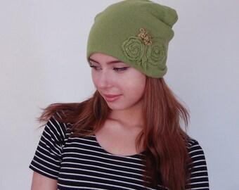 Women's Winter/Spring Hat. Ladies  Elegant  Hat.Spring Hat. Cashmere Hat.  Women Accessories.  Made with Love.