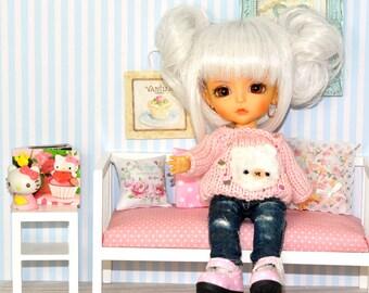 bettw sche bettdecke und kissen stoff shabby von fleurdelysdoll. Black Bedroom Furniture Sets. Home Design Ideas