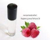 RASPBERRY LEMON, Perfume Oil, Handmade Perfume Oil in a 7ml Glass Roller Ball Bottle