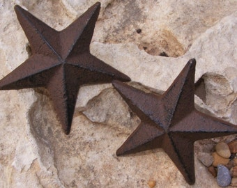 Cast Iron Star Nail SET OF 2 Garden Country Rustic Decor Western Primitive #121