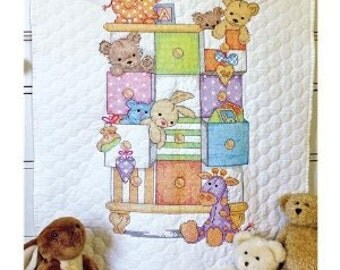 Stamped Cross-Stitch Baby Blankets