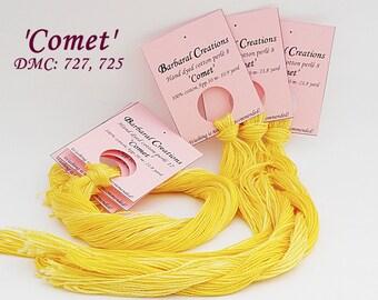 Hand dyed cotton perlé 12 - 'Comet'