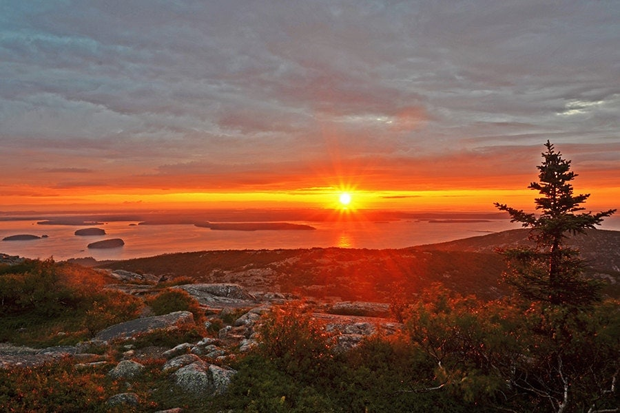 cadillac mountain sunrise acadia national by wayneoxfordprints. Cars Review. Best American Auto & Cars Review
