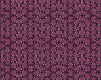 Half Yard - 1/2 Yard of Oval Elements Eggplant - Art Gallery Fabrics