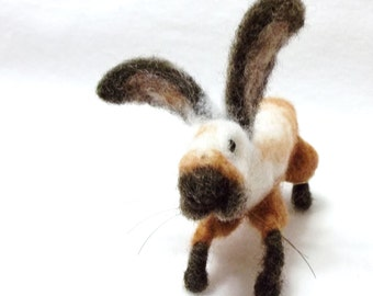 Blossom Is A Needle Felted Bunny Ready For Spring and Easter