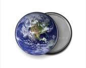 Planet Earth Pocket Mirror - 3.5 Inch Mirror