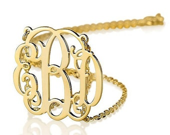 ON SALE Monogram necklace - Personalized Monogram - 18k Gold Plated