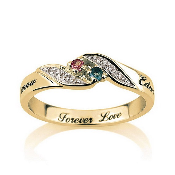 items similar to personalized promise ring engagement