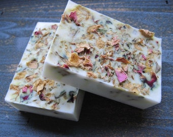 Shea Butter Frankincense & Myrrh Soap - Designer Soap - Floral Soap - Handmade Soap