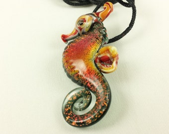 Seahorse - Glass Necklace
