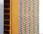 Custom Made Vintage Book Letters/1970 Reader's Digest Herringbone Design