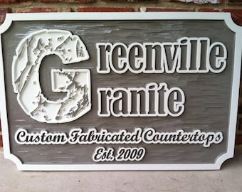 Custom Carved Business Signs - Custom Carved Dimensional HDU Signs or Wood Signs