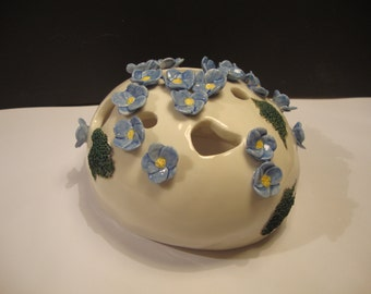 SOLD Porcelain Forget-me-not Sculpture