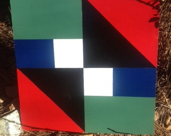 Handpainted Barn Quilt 2' x 2' For Inside or Outside