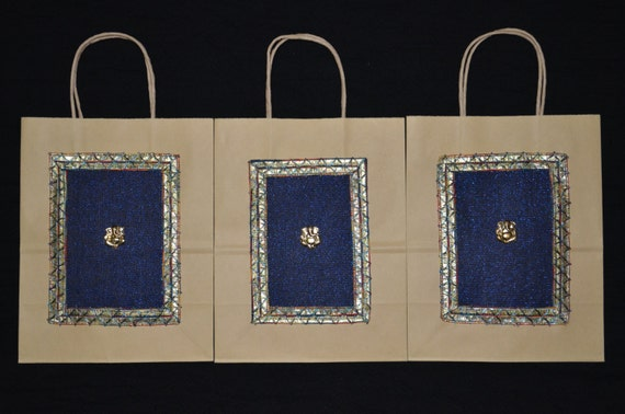 Wedding Gift Bags India : Gift Bags, Indian Wedding Gift Bags, Kraft Gift Bags, Handmade Gift ...