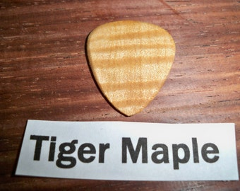 Tiger maple wood guitar pick