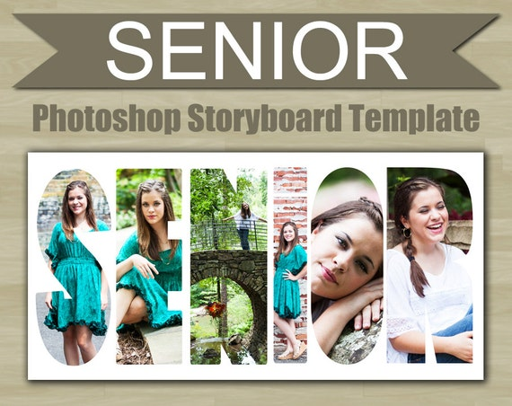 Photography storyboard template senior photoshop template word for Free senior templates for photoshop